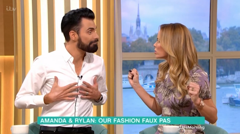 Rylan Clark-Neal and Amanda Holden on This Morning