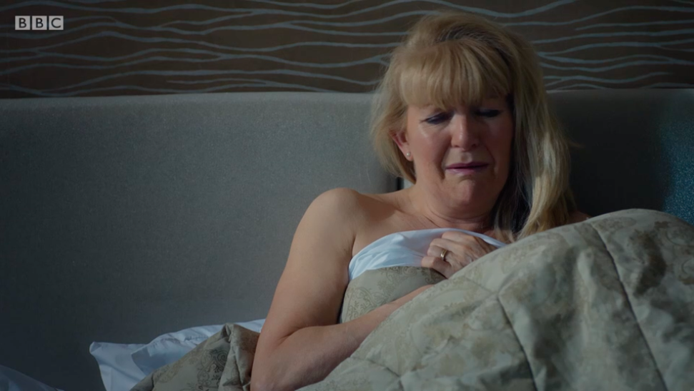 Casualty fans horrified by Duffy's one-night stand