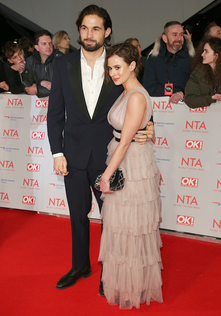 Camilla Thurlow and Jamie Jewitt, The National Television Awards 2018, 02 Arena, London UK, 23 January 2018, Photo by Brett D. Cove