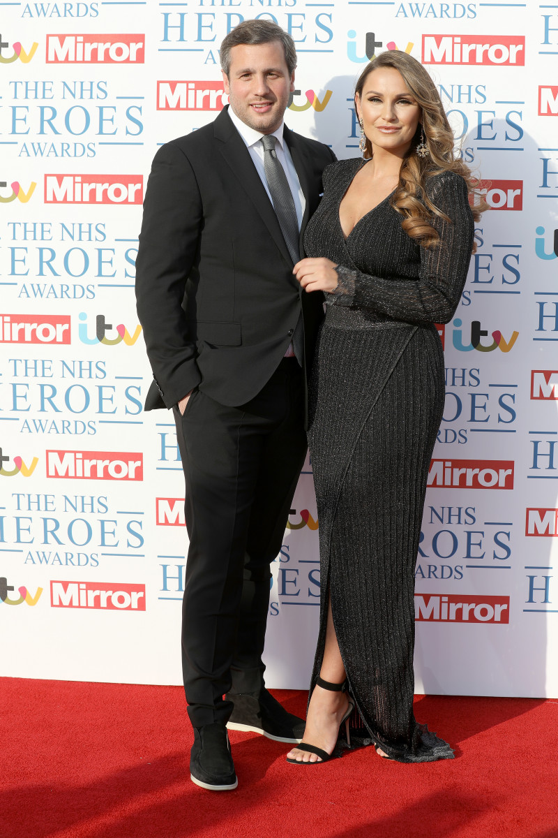 Sam Faiers (R) and partner Paul Knightley attend the 'NHS Heroes Awards'
