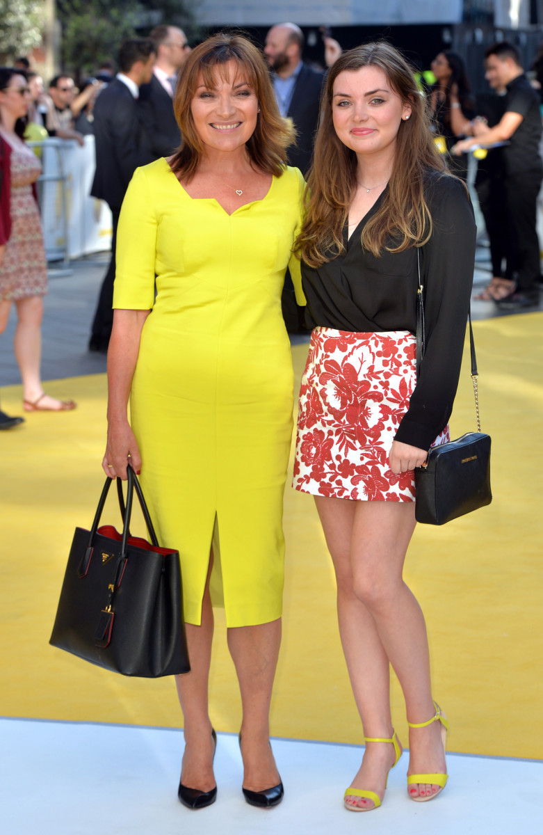 Lorraine Kelly and daughter Rosie Smith attend the World Premiere of 'Minions' at Odeon Leicester Square