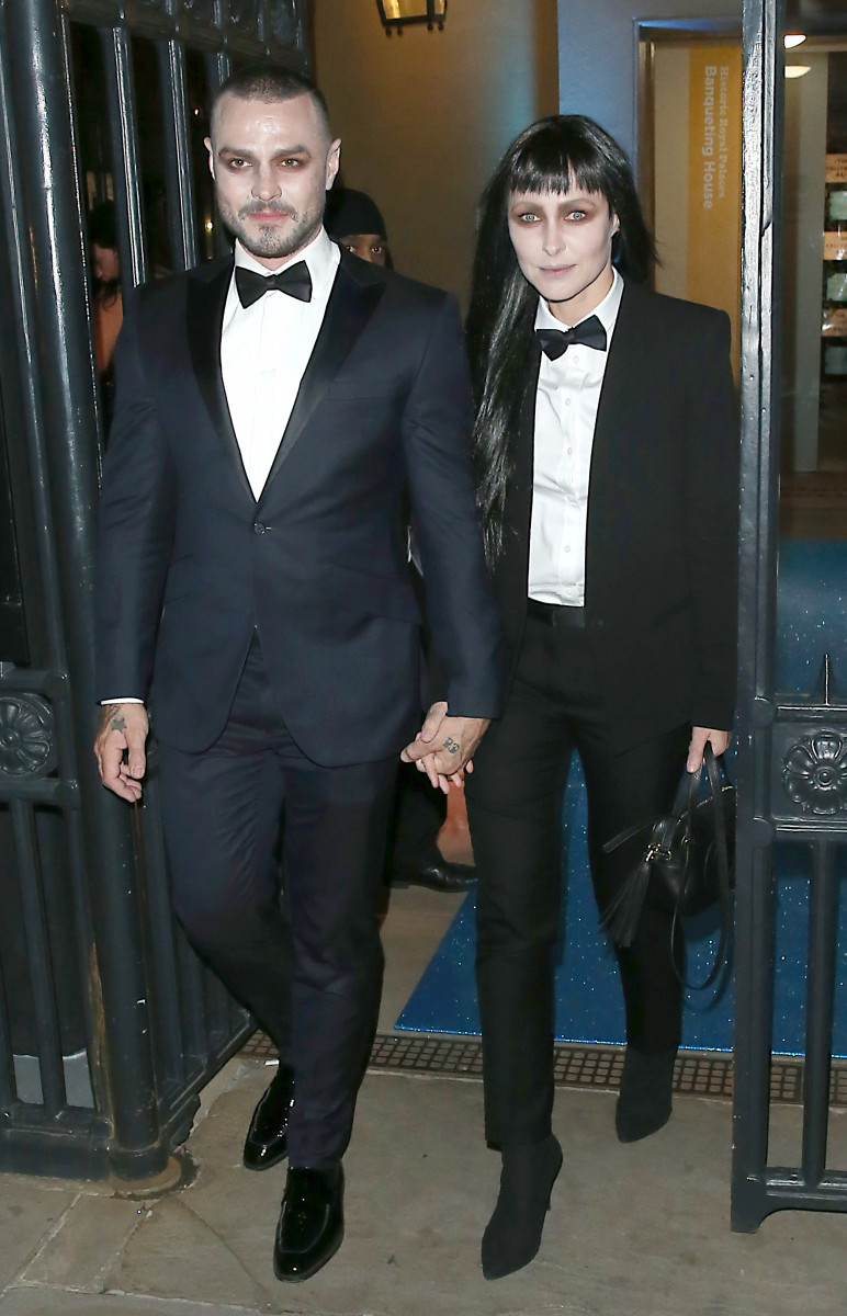 Matt Willis & Emma Willis Leave The Unicef Halloween Ball, London