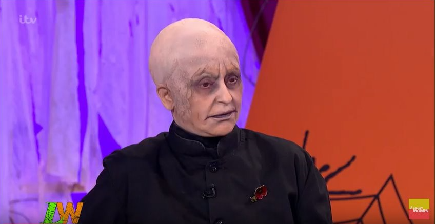 Loose Women's Nadia Sawalha transforms into Uncle Fester for Halloween