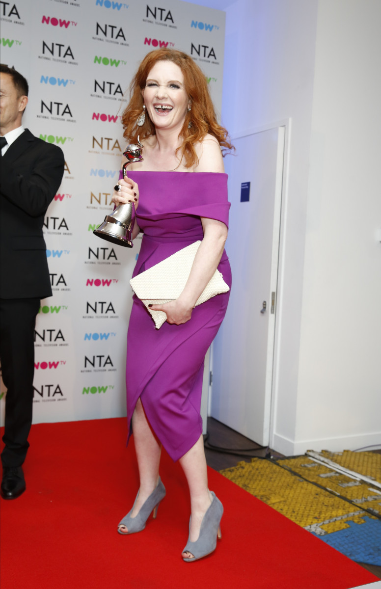 Jennie McAlpine, Celebrities In The Press Room At The 2018 National Television Awards In London