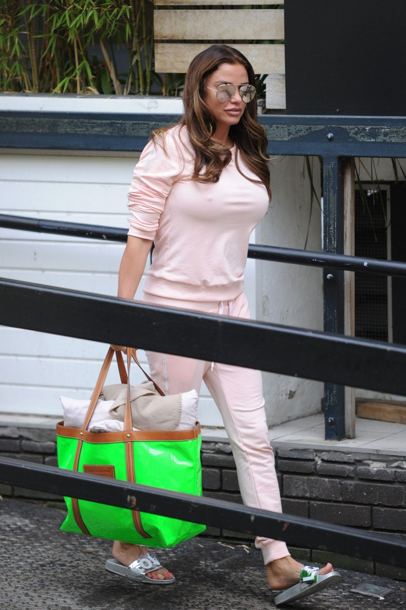 (credit: AMP / FameFlynet.uk.com / SplashNews.com) Katie Price, Katie Price Is A Vision In Pale Pink While Leaving The ITV Studios In London ( credit: AMP / FameFlynet.uk.com / SplashNews.com)