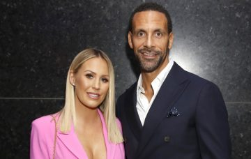 Rio Ferdinand And Partner Kate Wright Open New Aston Martin Showroom In London