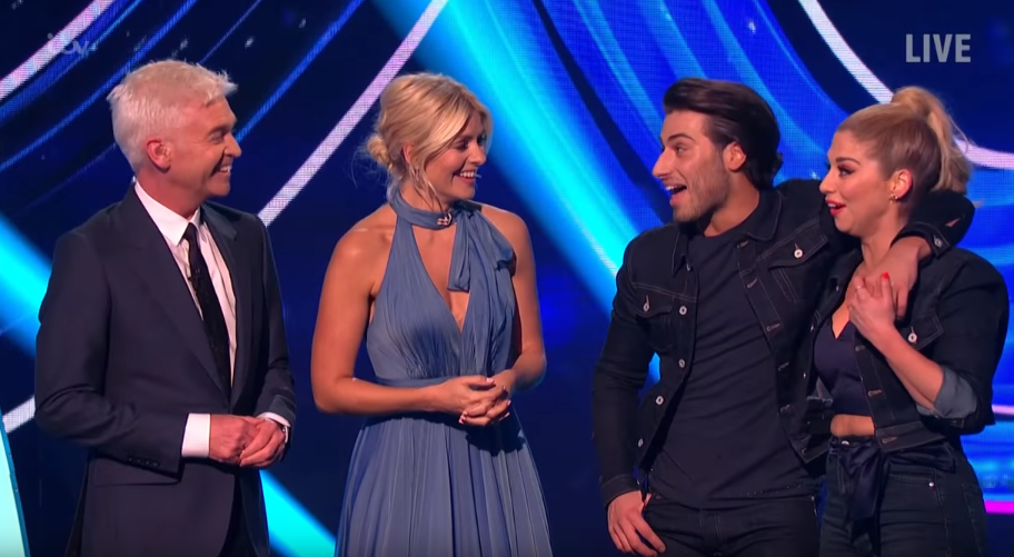 Phillip Schofield, Holly Willoughby, Kem Cetinay and Alexandra Murphy on Dancing On Ice