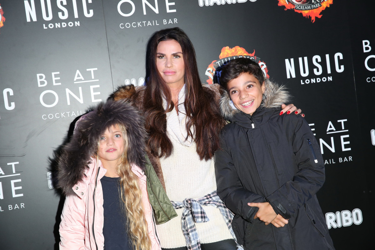 Katie Price, Glamour model Katie Price attends Shocktober Fest with Junior and Princess
