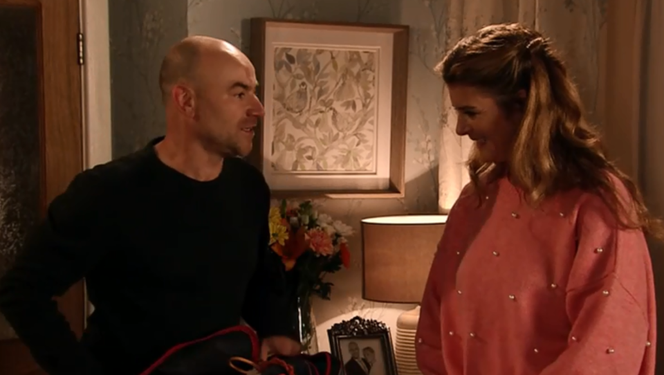 Tim and Gina in Corrie