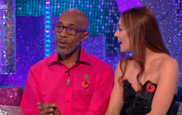 Danny John-Jules and Amy Dowden, Strictly Come Dancing (Credit: iPlayer)