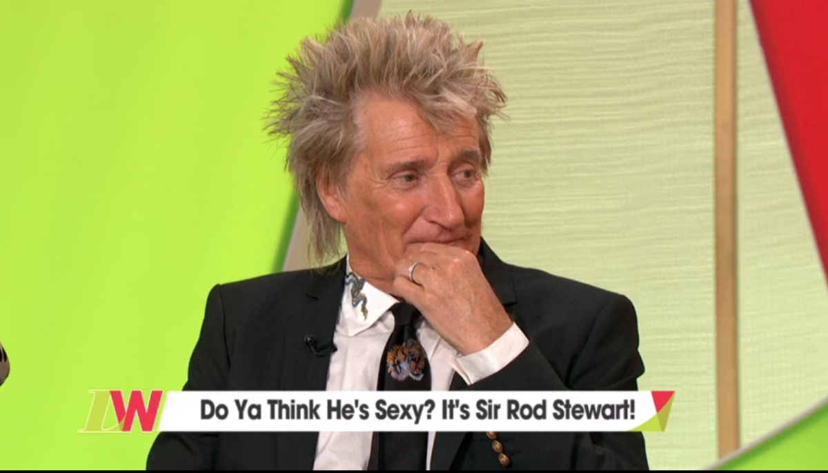 Rod Stewart squirms as he's grilled over cheating on Penny Lancaster on Loose Women
