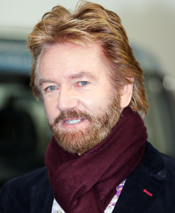 TV presenter Noel Edmonds is pictured leaving the ITV studios following a guest appearance on 'This Morning'.