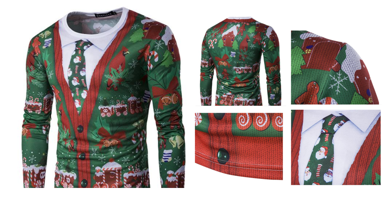 Get this cool long-sleeve Christmas Jumper T-shirt for £12.99!