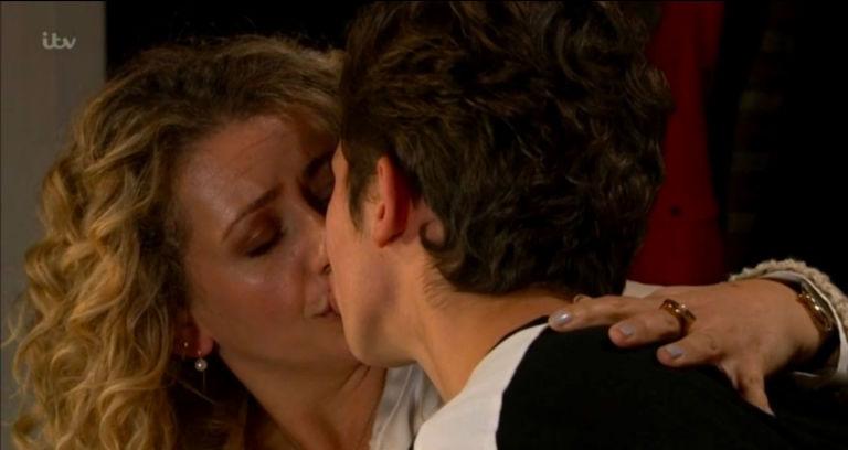 Maya and Jacob kiss