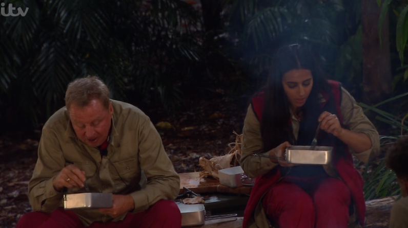 Harry Redknapp and Sair Khan on I'm A Celebrity