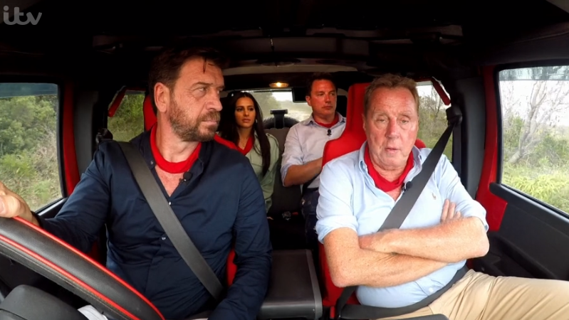 Nick Knowles and Harry Redknapp on I'm A Celeb
