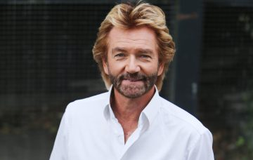 Noel Edmonds outside the ITV studios