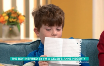 Little boy who wrote letter to Anne Hegerty about autism