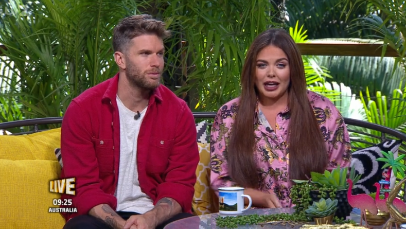 Joel Dommett and Scarlett Moffatt on Extra Camp