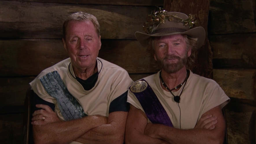 noel edmonds, harry redknapp, i'm a celebrity, itv