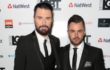 Rylan Clark-Neal and husband Dan at the British LGBT Awards