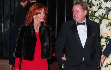 Harry Redknapp and wife Sandra at Wedding of Christine Bleakley and Frank Lampard at St. Paul's Knighstbridge