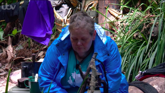Anne Hegerty on I'm A Celeb (Credit: ITV)