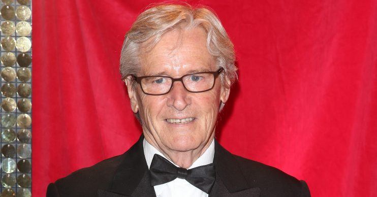 Celebrities arrive at the red carpet for the British Soap Awards at the Hackney Empire in London, UK. WORLDWIDE RIGHTS Pictured: William Roache Ref: SPL4088031 240514 NON-EXCLUSIVE Picture by: FameFlynet.uk.com / SplashNews.com Splash News and Pictures Los Angeles: 310-821-2666 New York: 212-619-2666 London: +44 (0)20 7644 7656 Berlin: +49 175 3764 166 photodesk@splashnews.com World Rights
