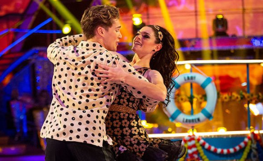 Lauren says AJ was a tough dance partner (Credit: BBC)