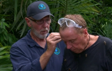 Harry Redknapp with medic bob (Credit: ITV)