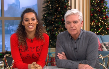 Rochelle Humes and Phillip Schofield on This Morning