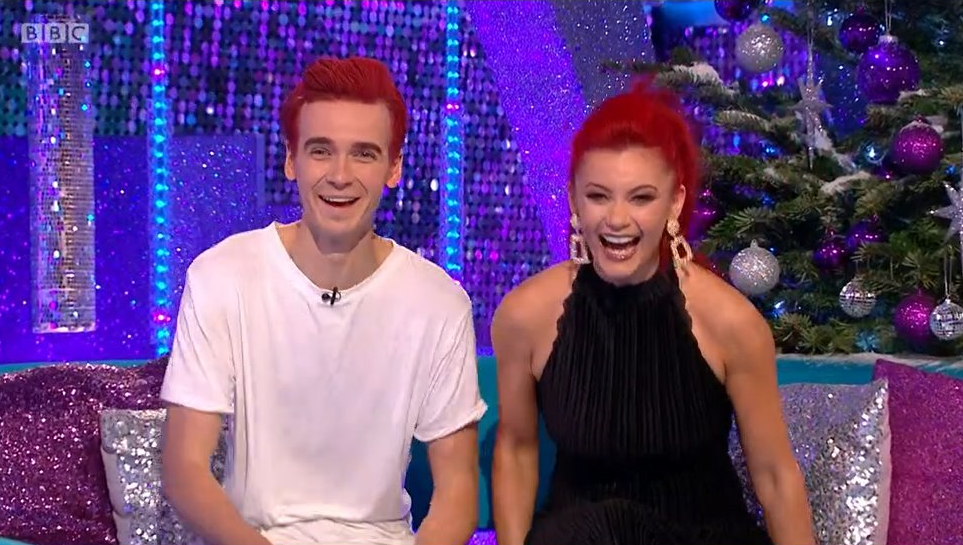Joe Sugg and Dianne Buswell on It Takes Two (Credit: BBC)