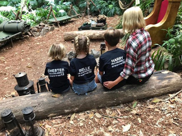Holly Willoughby and her kids in IAC jungle