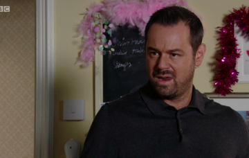 Mick Carter returns to Walford with a tan