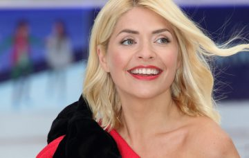 Holly Willoughby at the Dancing On Ice Launch Showcase at the Natural History Museum Ice Rink, Kensington, London
