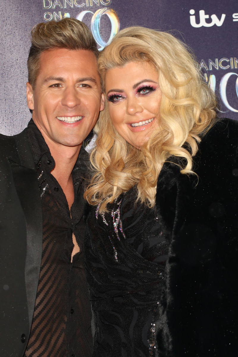 Matt Evers and Gemma Collins at the Dancing on Ice photocall held at the Natural History Museum ice rink - Arrivals