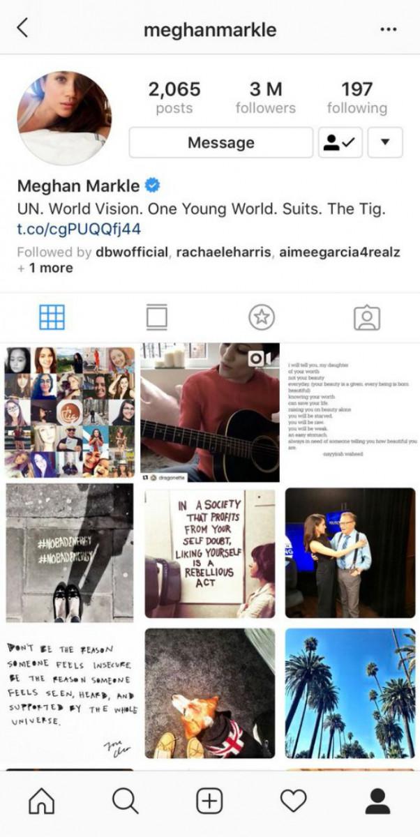 Meghan Markle's Instagram
