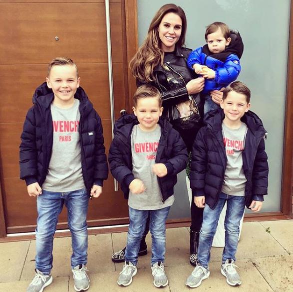 DAnielle Lloyd with four sons