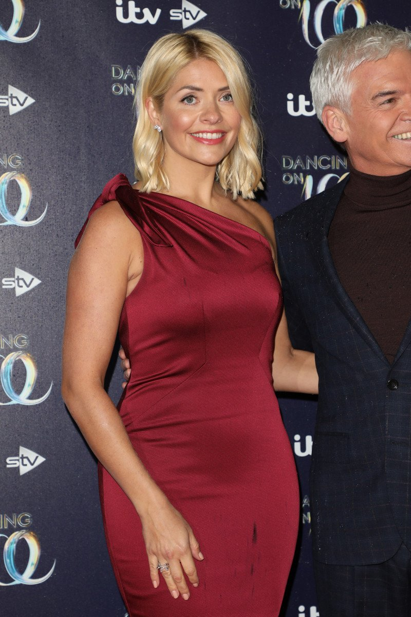 Holly Willoughby at Dancing on Ice photocall held at the Natural History Museum ice rink
