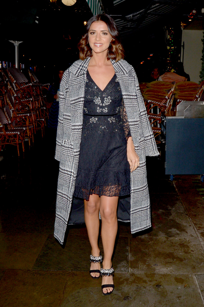Lucy Mecklenburgh leaving Harry's Bar in London.