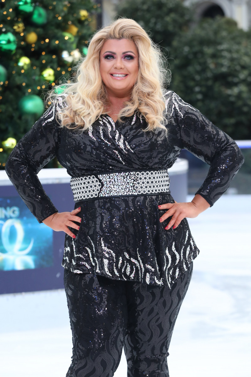 Gemma Collins at the Dancing on Ice photocall held at the Natural History Museum ice rink