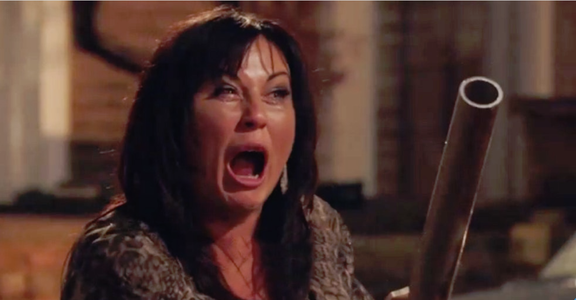 Kat Slater finds out the truth about Hayley's baby