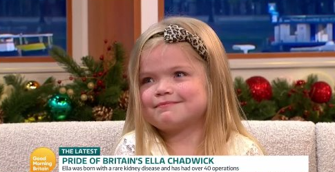 GMB fans choked up as child fundraiser Ella Chadwick receives special Christmas gift