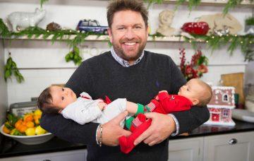 James Martin with Chris Evans' babies