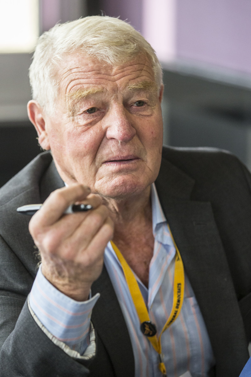 Paddy Ashdown signs copies of his new book 'Game of Spies' at the Liberal Democrats conference 2016 in Brighton, England