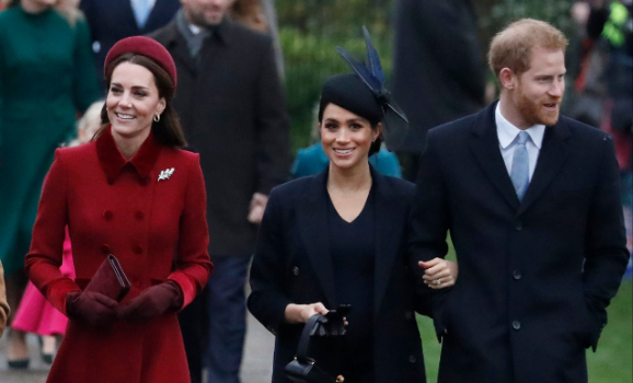 Duchesses of Cambridge and Sussex put on united front for Christmas