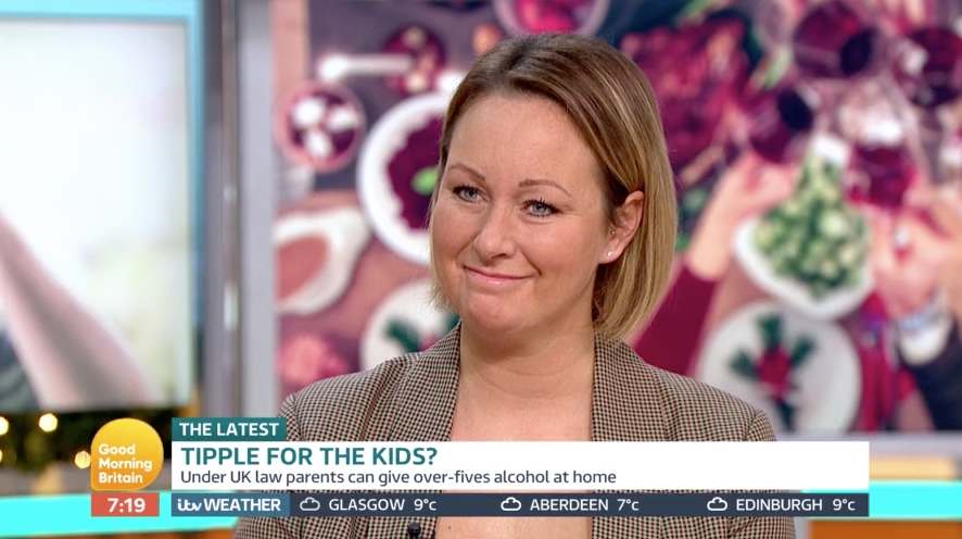 GMB viewers slam mum for letting eight-year-old son to drink Christmas booze