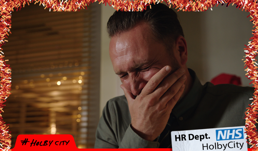 Tears for broken Fletch in Holby City Christmas special