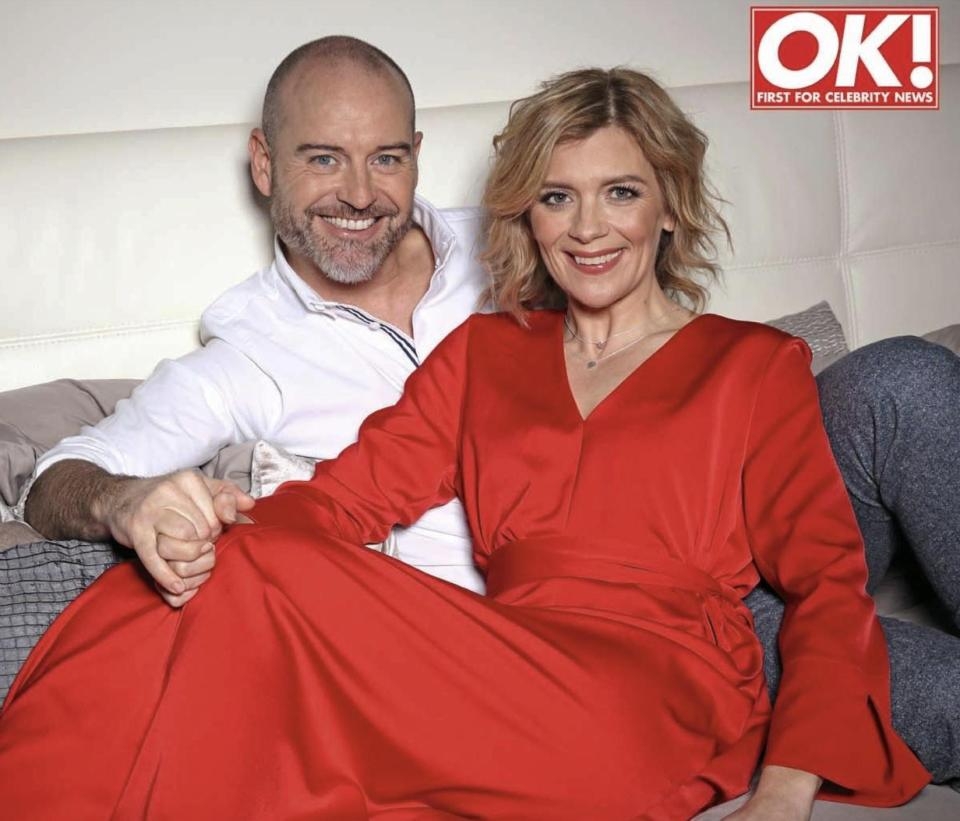 Jane Danson and husband Robert Beck in OK! Magazine