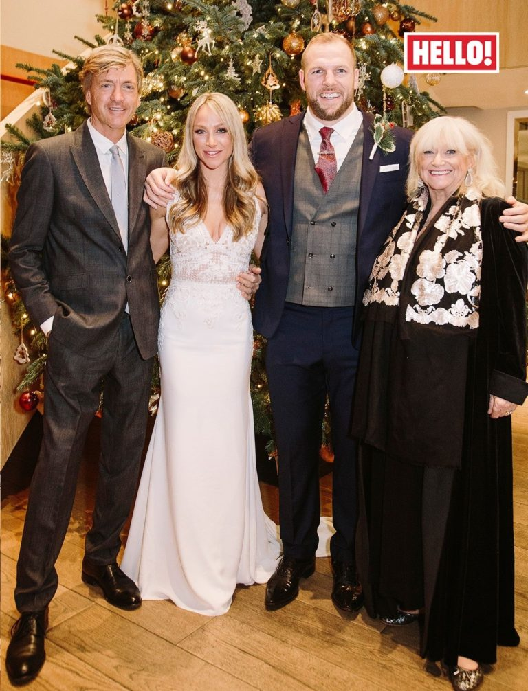 Richard Madeley and Judy Finnigan with daughter Chloe on her wedding day